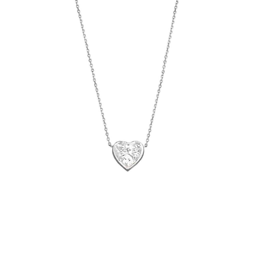 Heart of Light Diamond Necklace White Gold