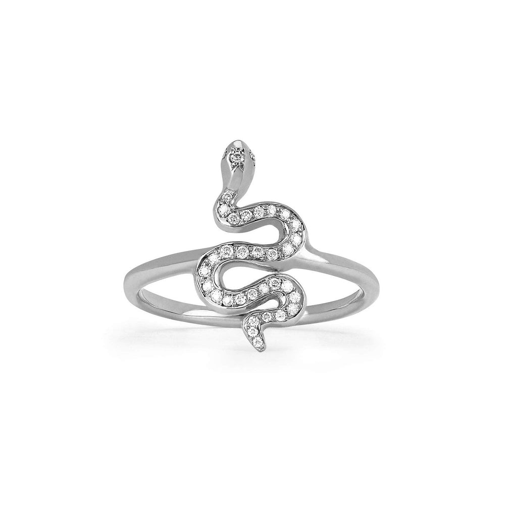 Kundalini Baby Snake Ring with Pavé Diamonds Kundalini Baby Snake Ring with Pavé Diamonds