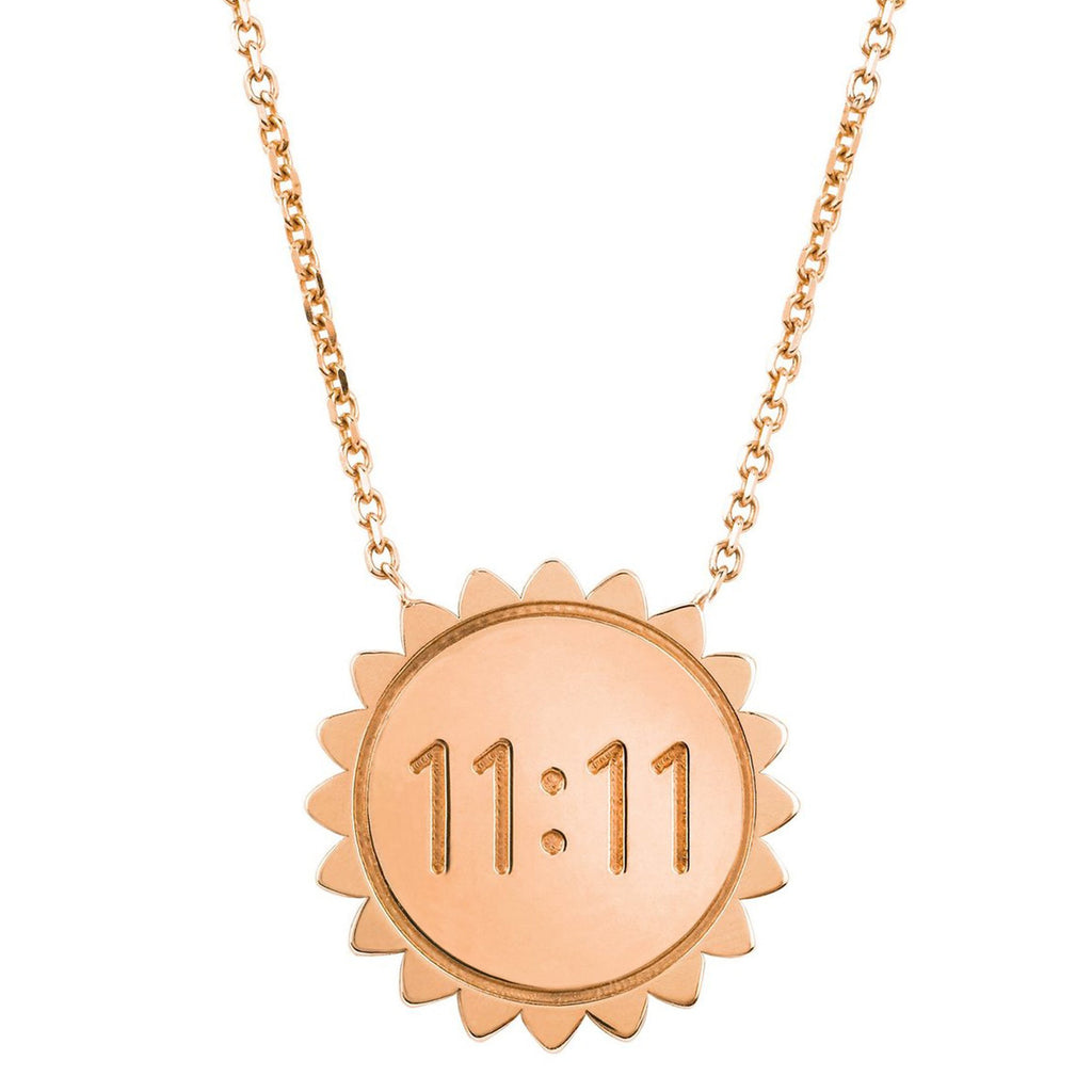 Classic 11:11 Sunshine Necklace SOLID Rose Gold