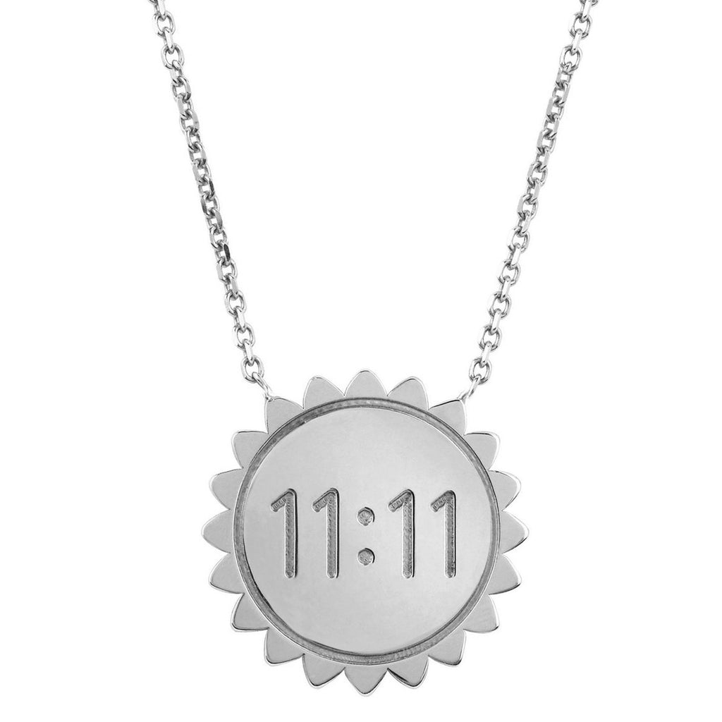 Classic 11:11 Sunshine Necklace SOLID White Gold
