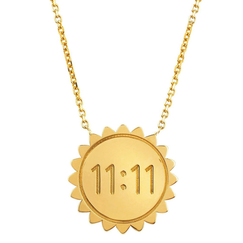 Classic 11:11 Sunshine Necklace SOLID Yellow Gold