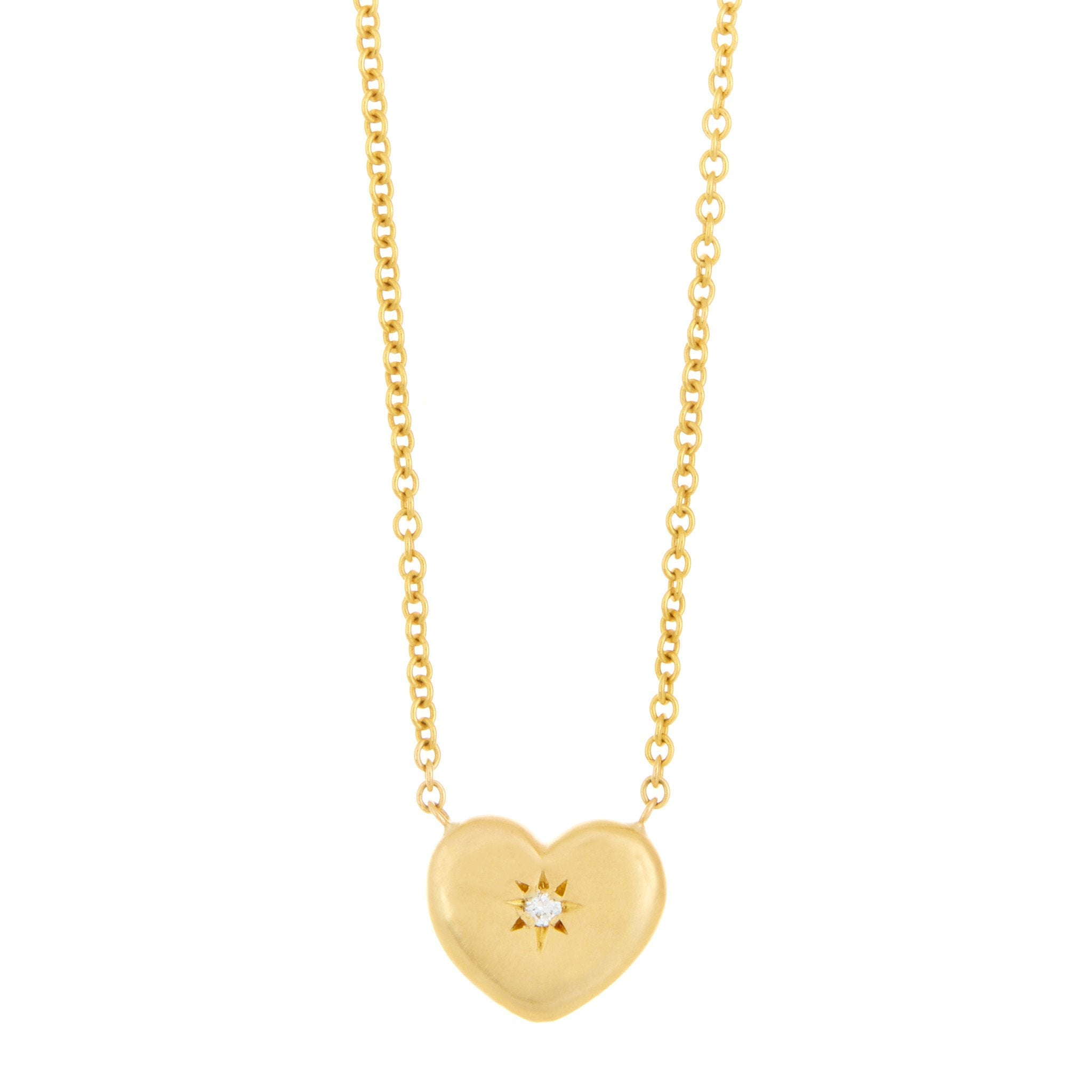 Star Set Heart Pendant