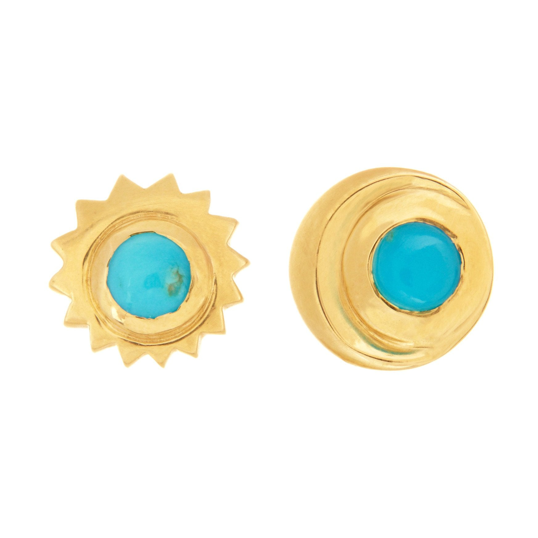 Ra + Khonsu Turquoise Earrings