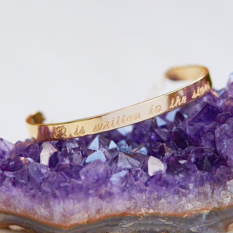 Written in The Stars Gold and Diamond Bracelet