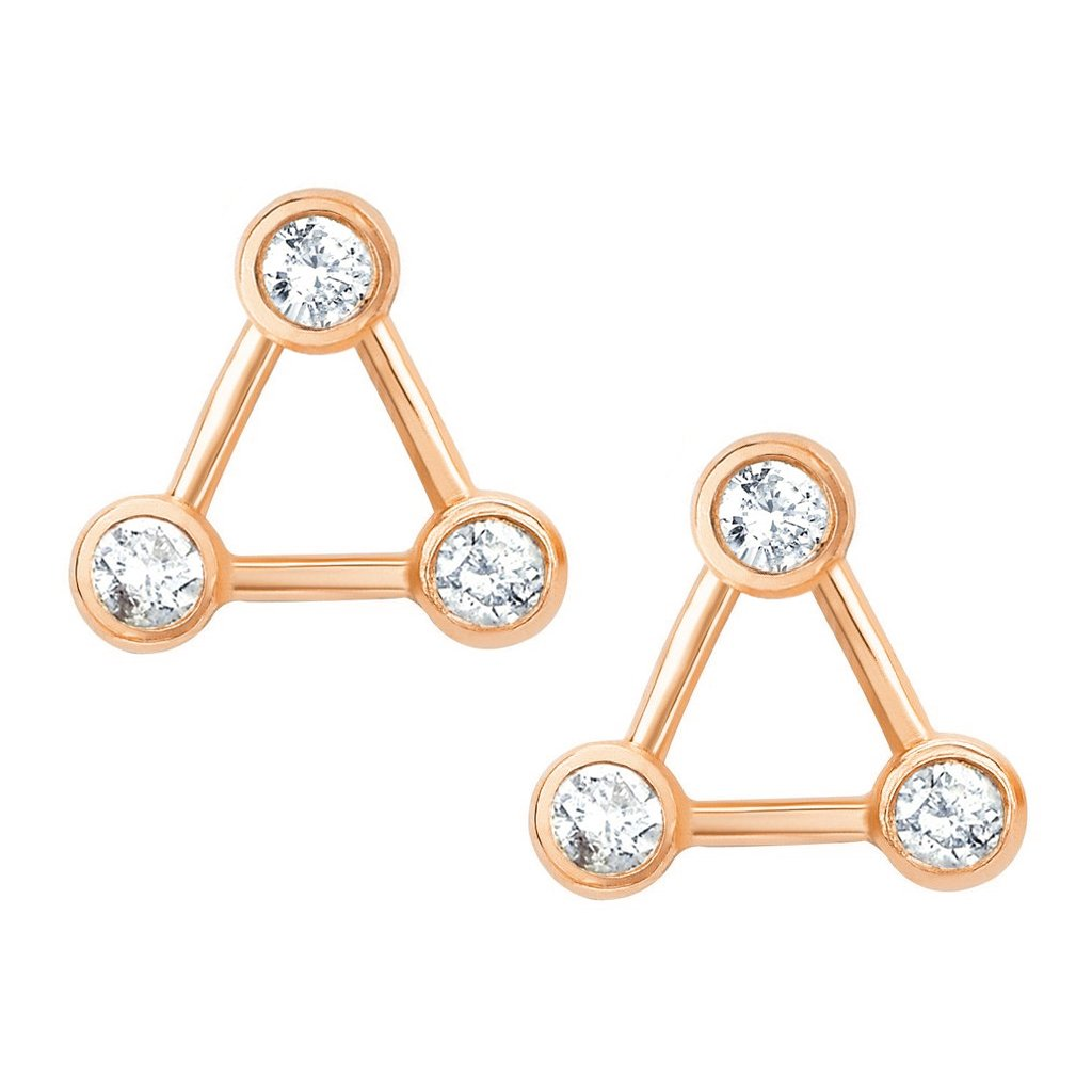 Summer Triangle Diamond Constellation Earrings