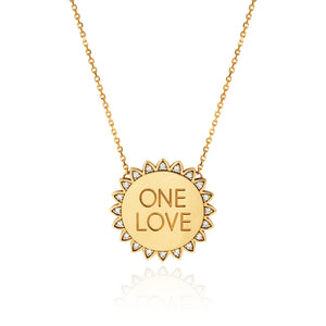 NEW! Classic ONE LOVE Sunshine Necklace with Diamonds