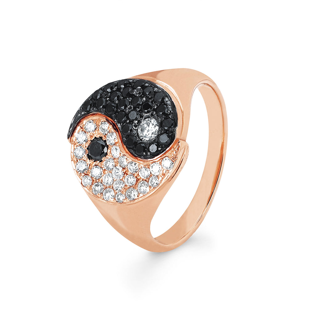 Yin Yang Ring Rose Gold