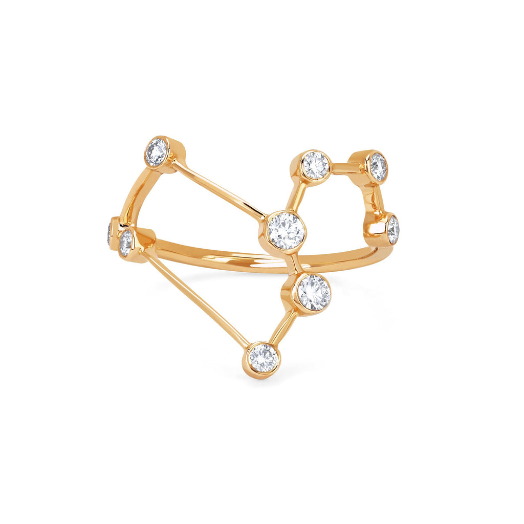 Leo Constellation Ring Yellow Gold