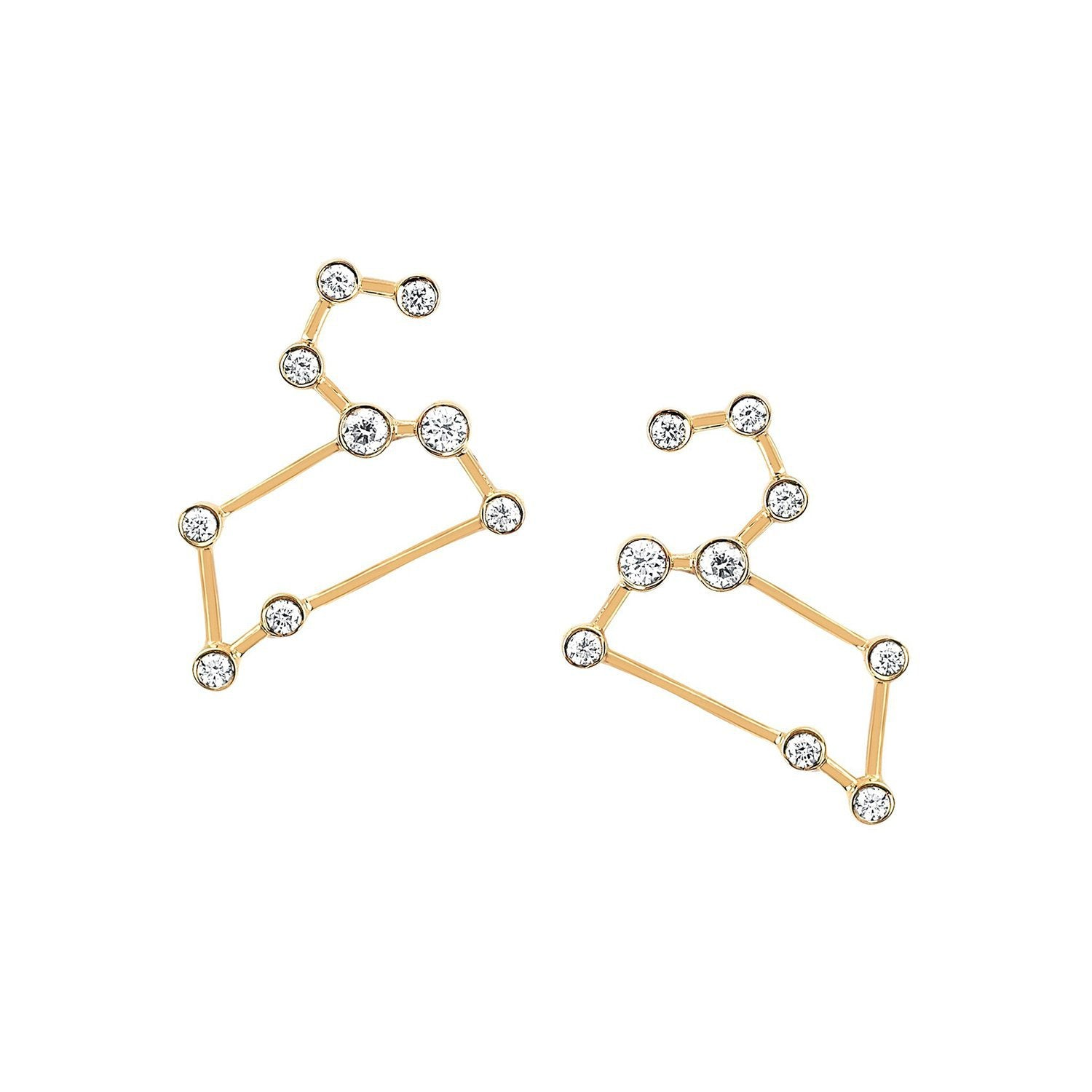 Leo Diamond Constellation Studs