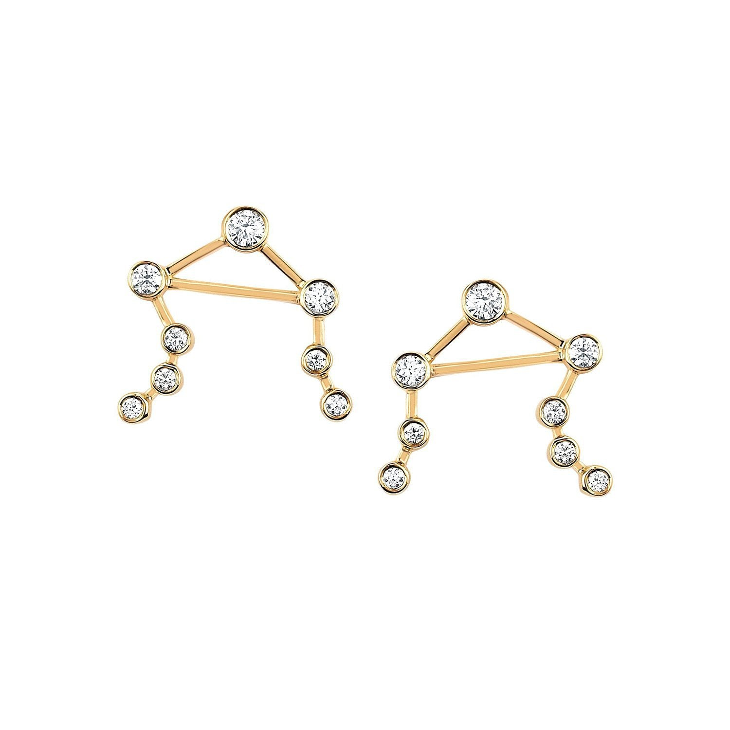 Libra Diamond Constellation Studs