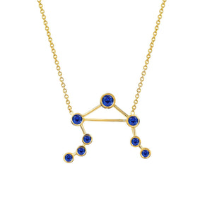 NEW! Libra Sapphire Constellation Necklace