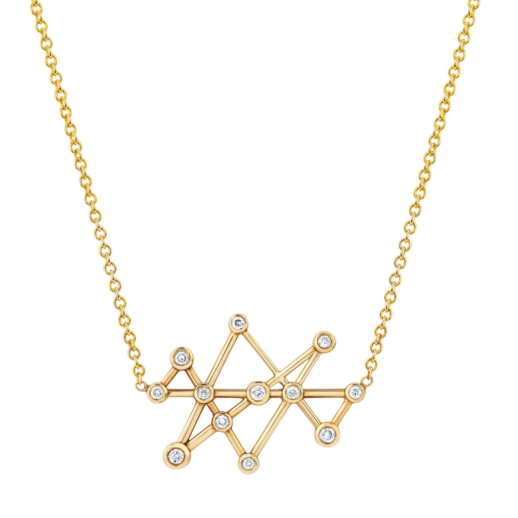 Midas Star Diamond Necklace Yellow Gold