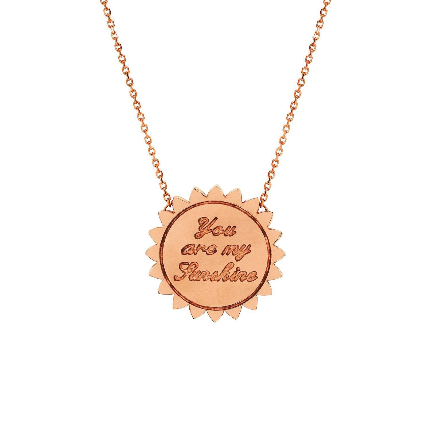 "Custom Medium ""You Are My Sunshine"" Necklace with Star Set Diamond"