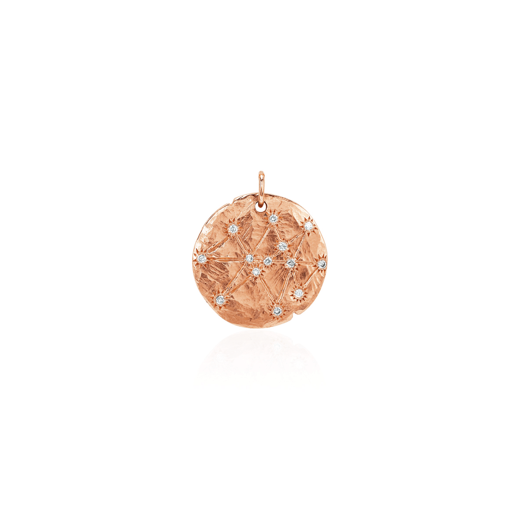 Baby Midas Star Coin of Abundance & Prosperity Coin Charm Rose Gold