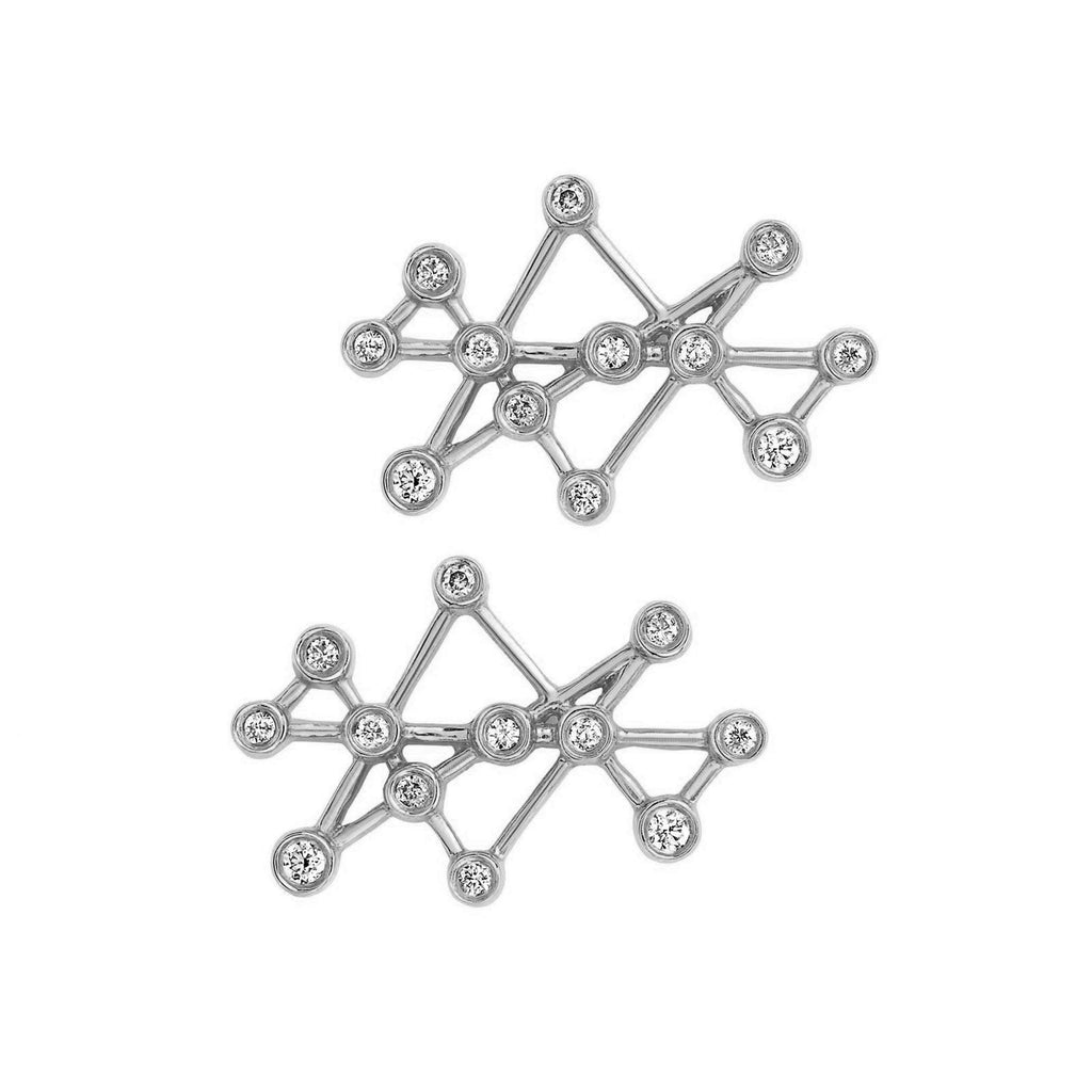 Midas Star Studs White Gold