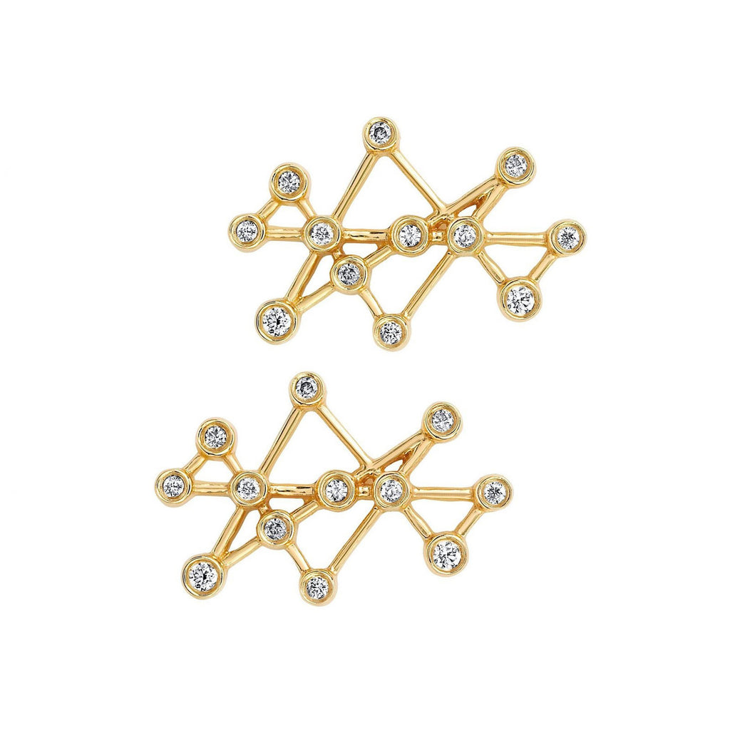 Midas Star Studs Yellow Gold