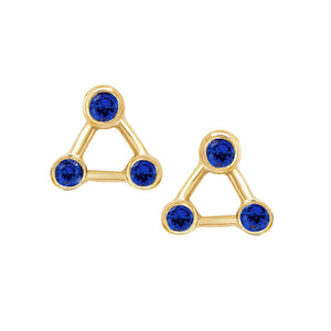 NEW! Mini Summer Triangle Sapphire Constellation Earrings