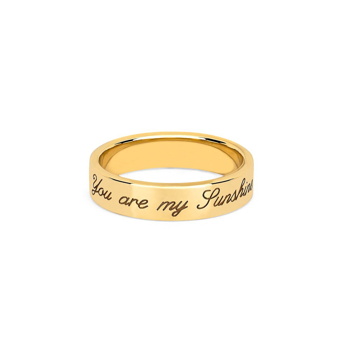 """You Are My Sunshine"" Initial Band with Star Set Diamond"