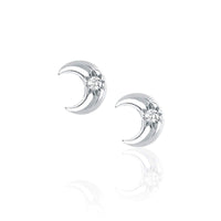 NEW! Crescent Stud with Star Set Diamond NEW! Crescent Stud with Star Set Diamond