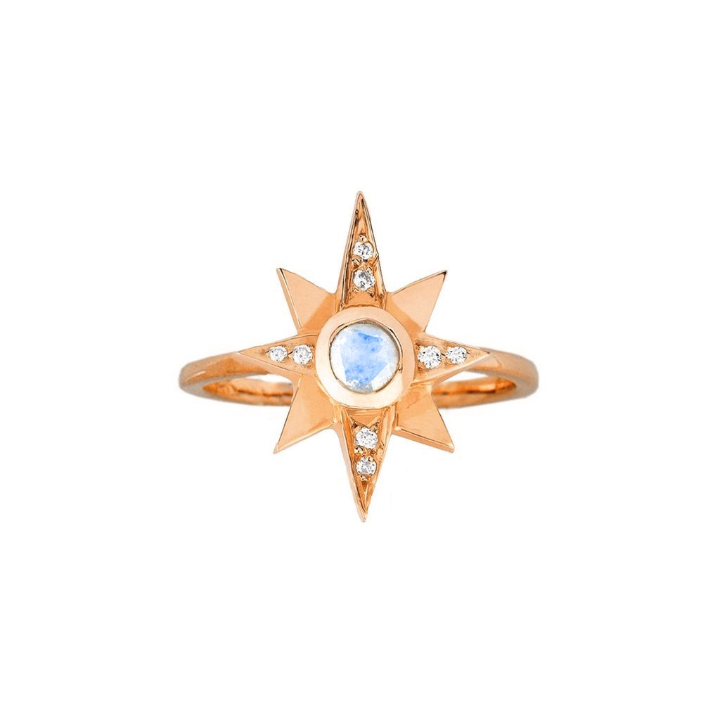 North Star Moonstone Ring