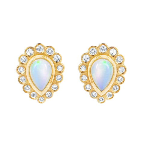Opal Water Drop Earrings
