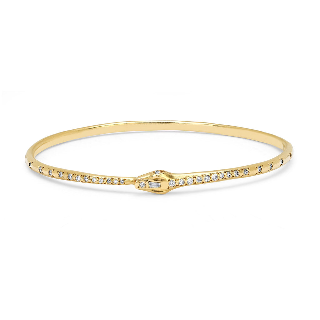 Kundalini Diamond Snake Bangle Yellow Gold