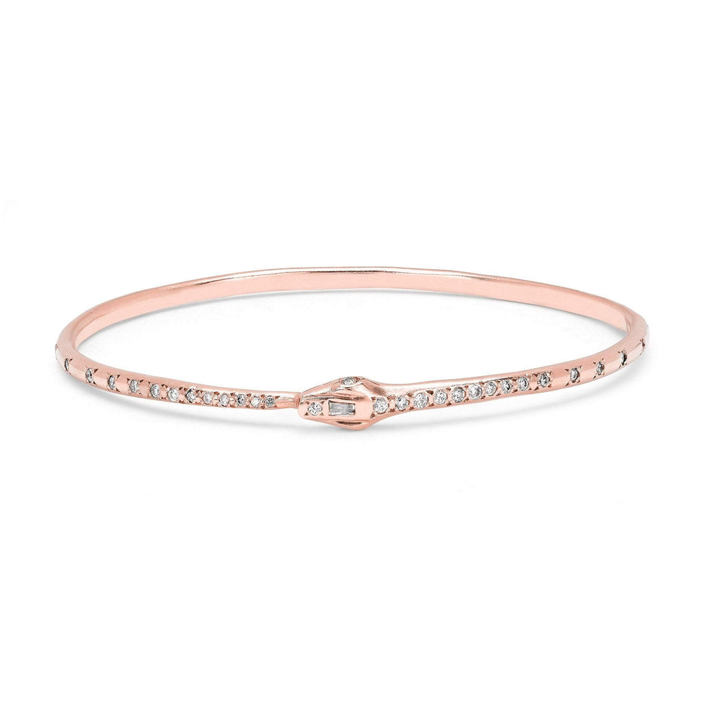 Kundalini Diamond Snake Bangle Rose Gold