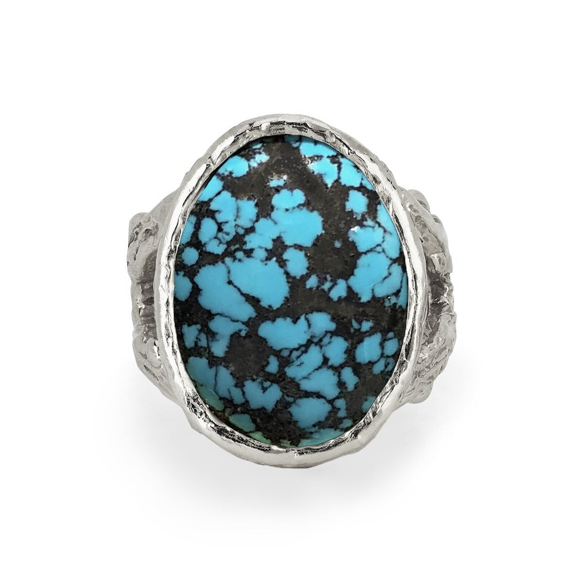 Oval Turquoise Rose Thorn Ring