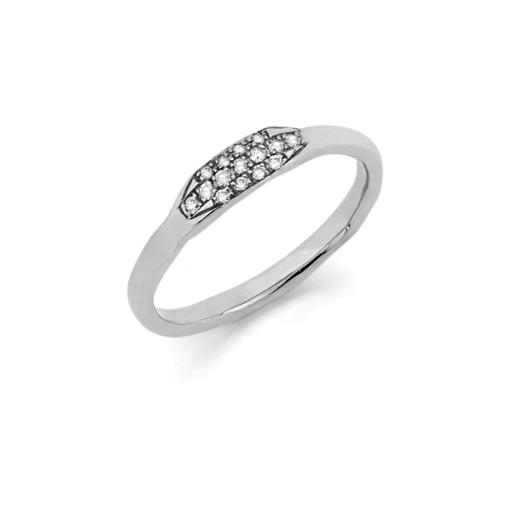 Diamond Patch Stack Ring White Gold