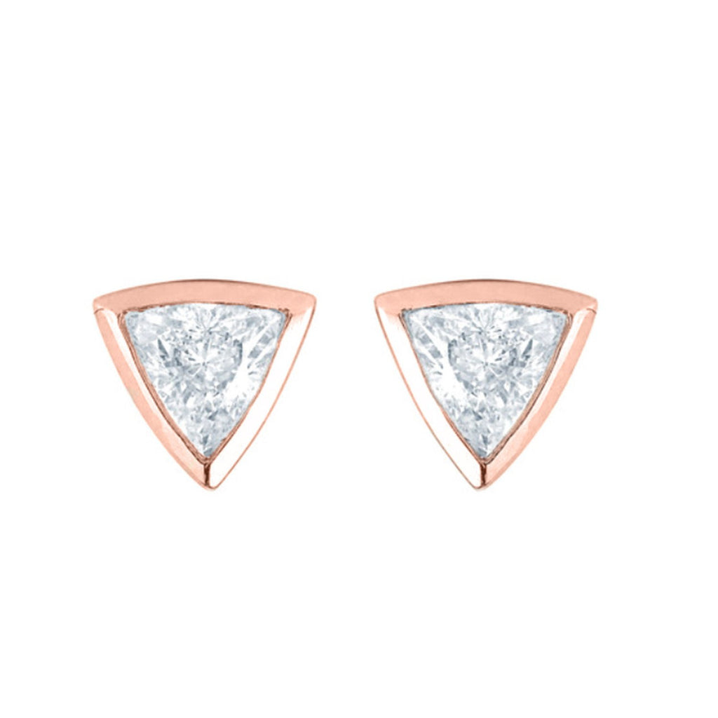 Papa Trillion Stud Earring Rose Gold