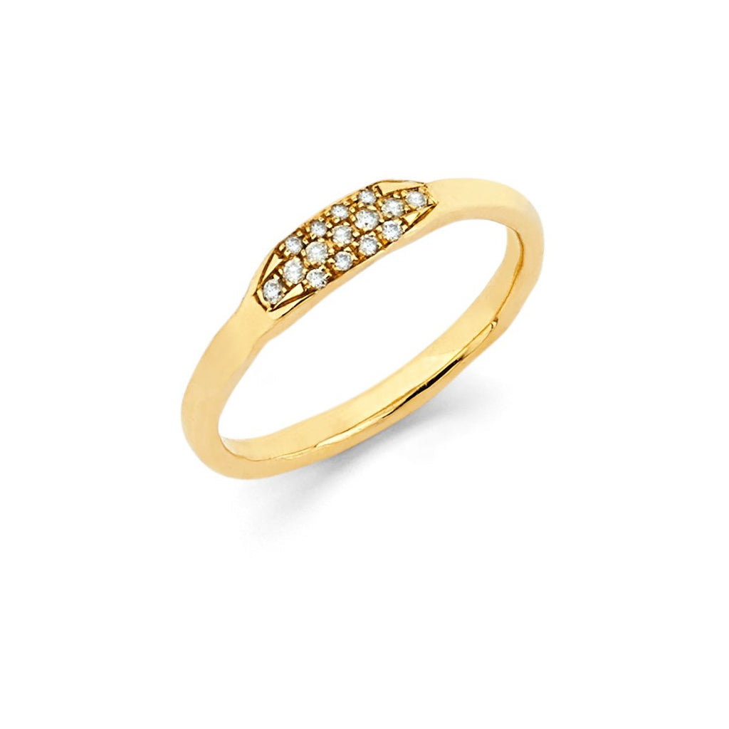 Diamond Patch Stack Ring Yellow Gold