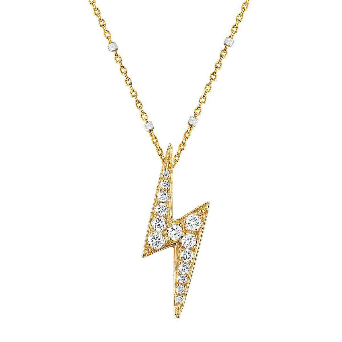 Pavé Diamond Lightening Bolt Pendant