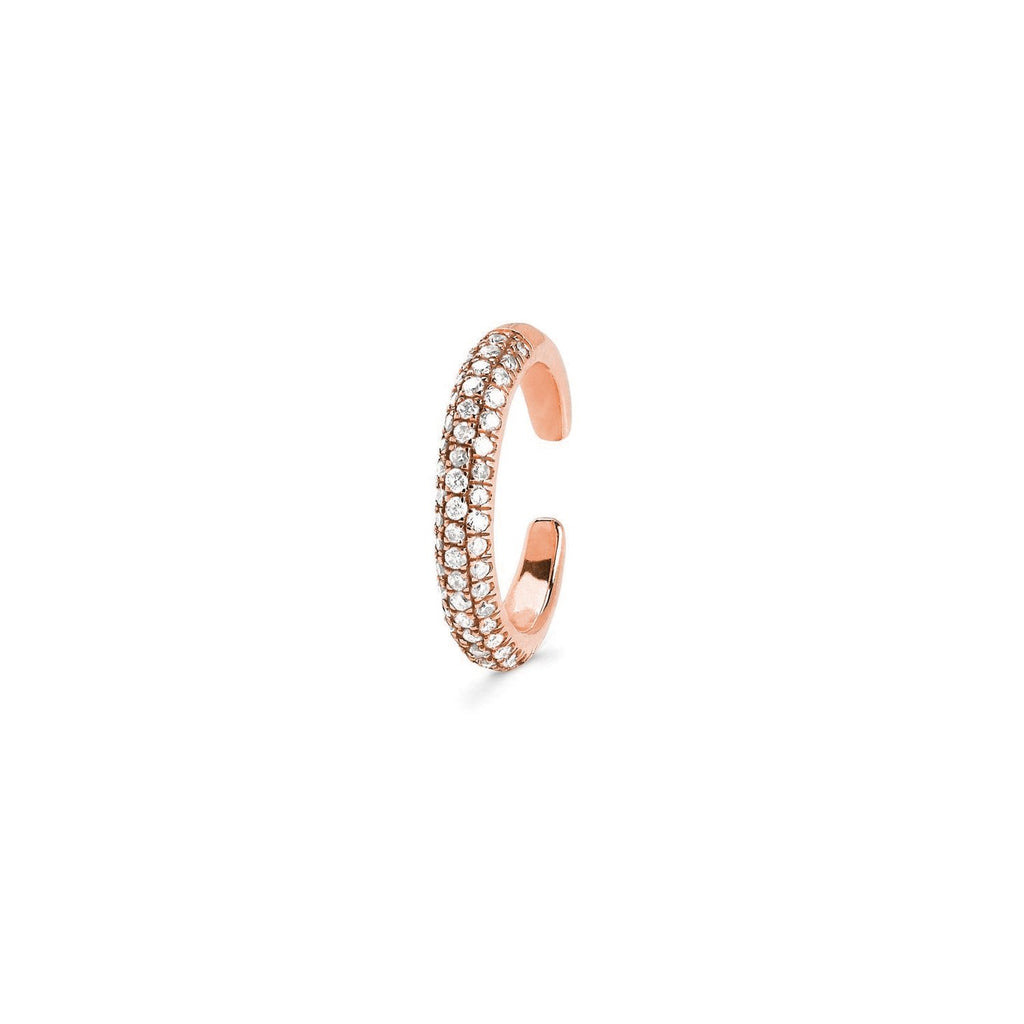 Micro Pavé Diamond Ear Cuff Rose Gold