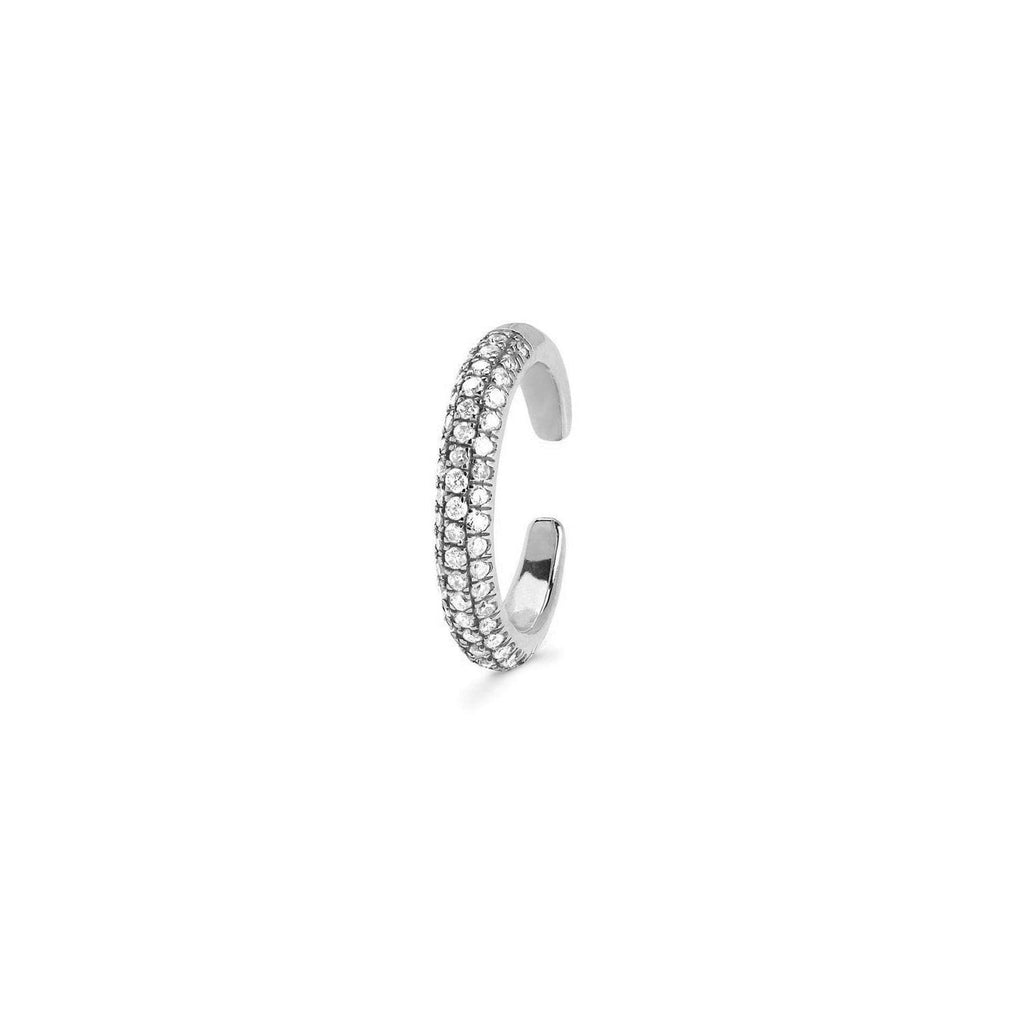 Micro Pavé Diamond Ear Cuff White Gold