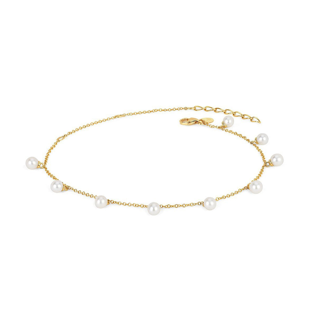 NEW! 9 Lunar Pearl Orbit Drop Anklet NEW! 9 Lunar Pearl Orbit Drop Anklet