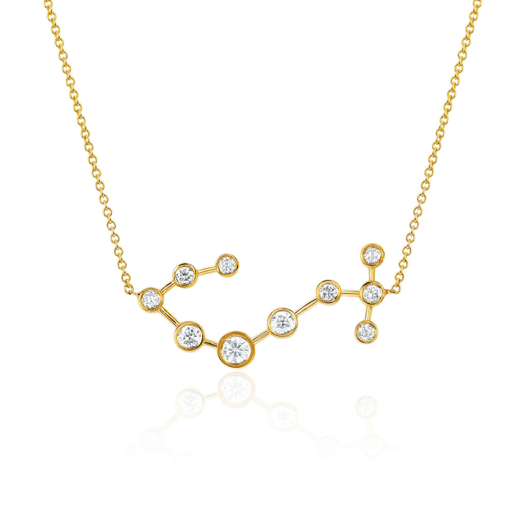 Scorpio Constellation Necklace Yellow Gold