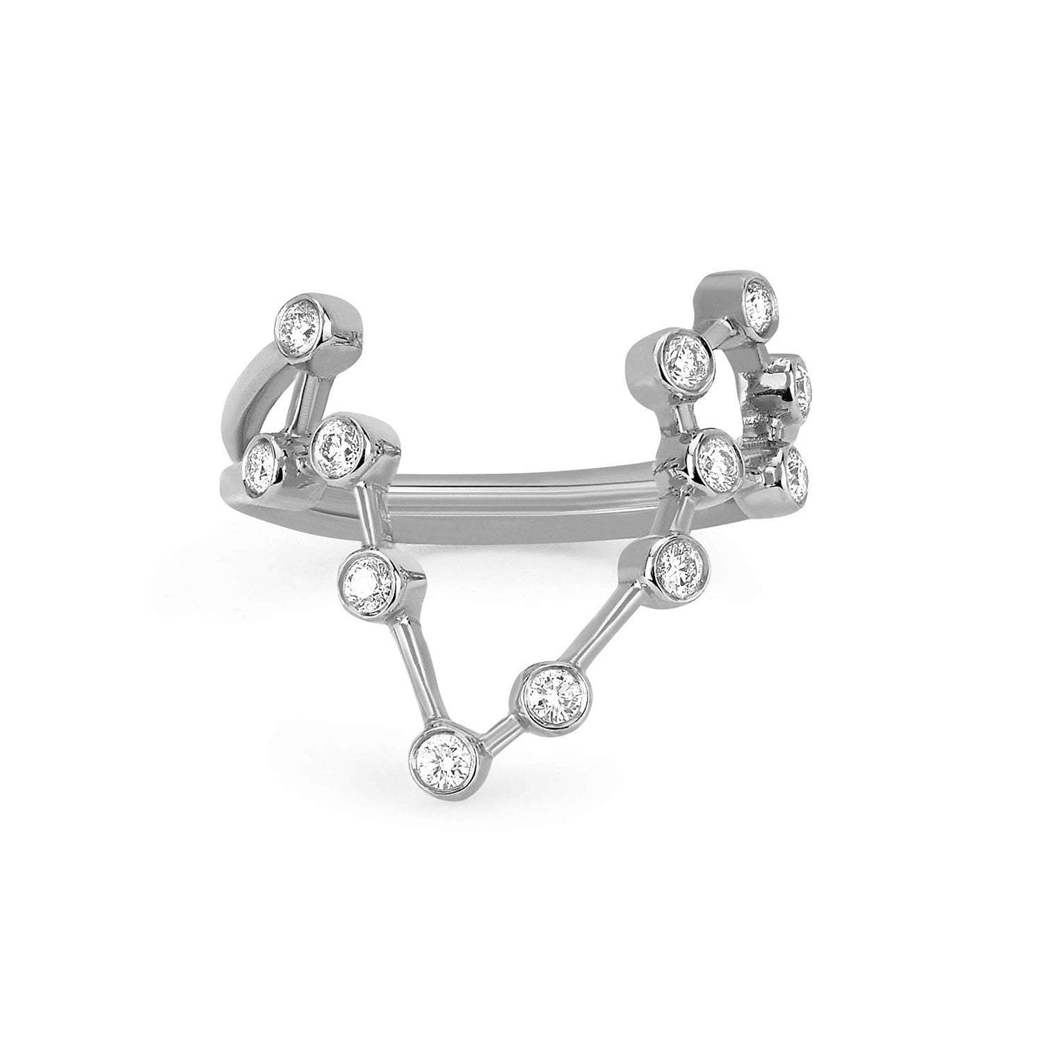 Pisces Diamond Constellation Ring
