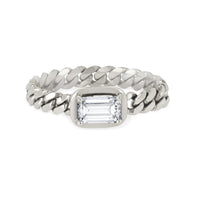 Queen Emerald Cut Diamond Cuban Ring Queen Emerald Cut Diamond Cuban Ring