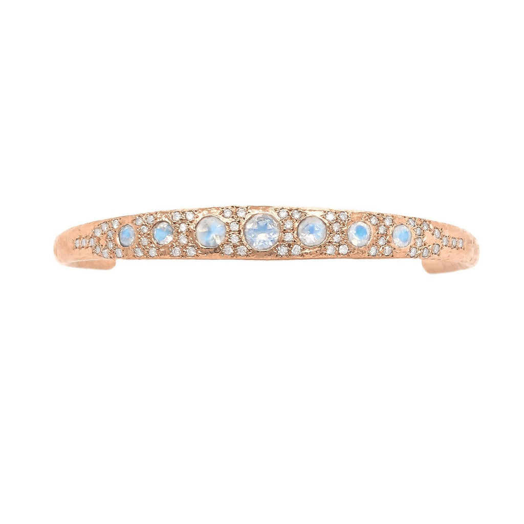 Queen Moonstone Cuff with Pavé Diamonds Queen Moonstone Cuff with Pavé Diamonds