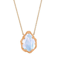 Queen Water Drop Moonstone Solitaire Necklace Queen Water Drop Moonstone Solitaire Necklace