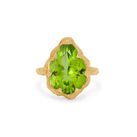 Queen Solitaire Water Drop Peridot Ring Queen Solitaire Water Drop Peridot Ring