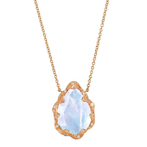 Queen Water Drop Moonstone Necklace