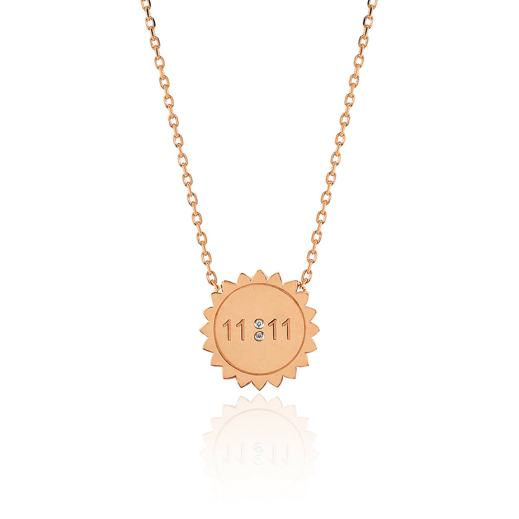 NEW! Mini 11:11 Sunshine Necklace Rose Gold