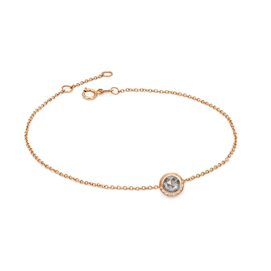 Silver Moon Bracelet Rose Gold