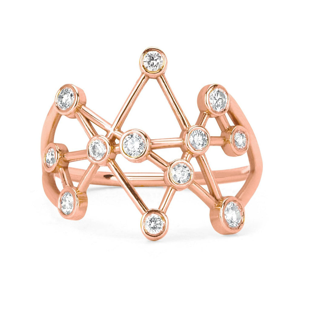 Midas Star Ring Large Rose Gold