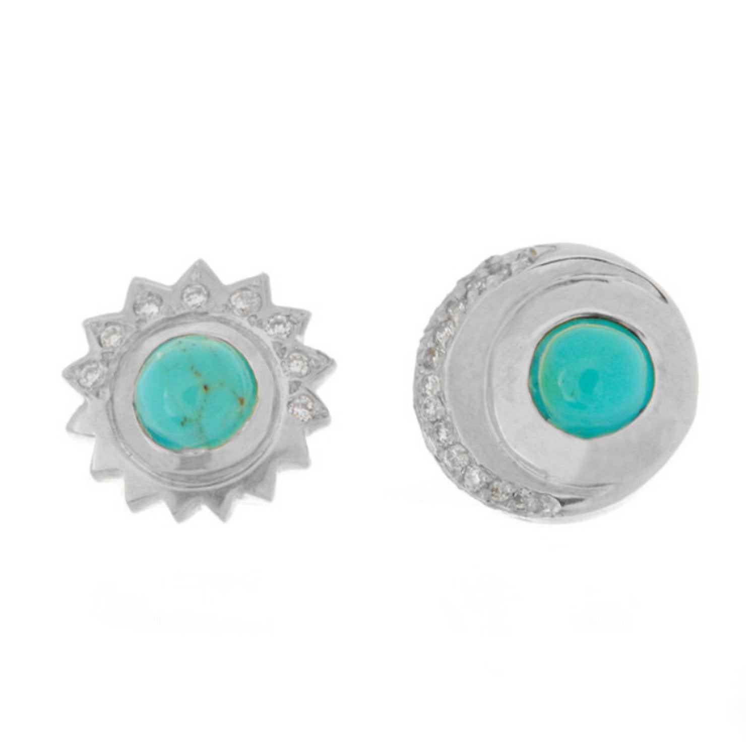 Ra + Khonsu Turquoise and Diamond Studs