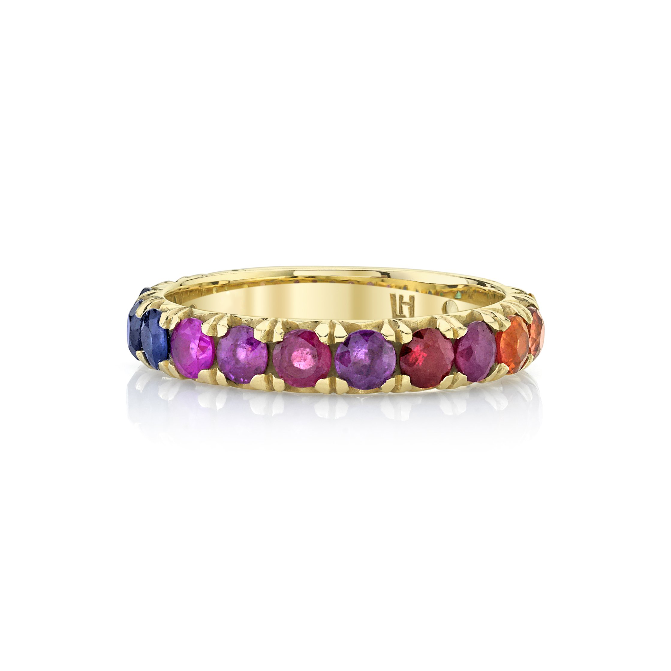 NEW! Rainbow French Pavé Band
