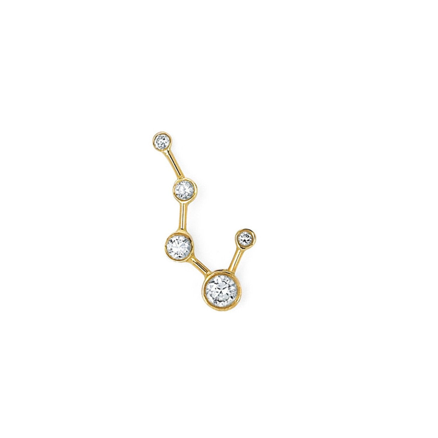 Single Diamond Big Dipper Earring