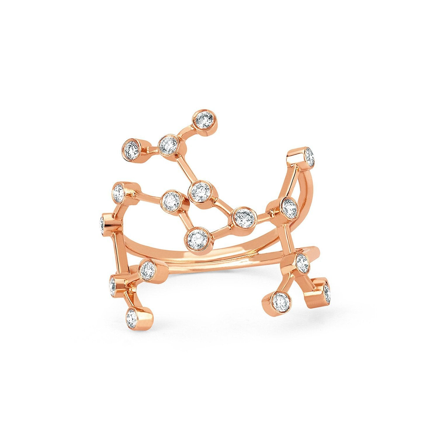 Sagittarius Diamond Constellation Ring