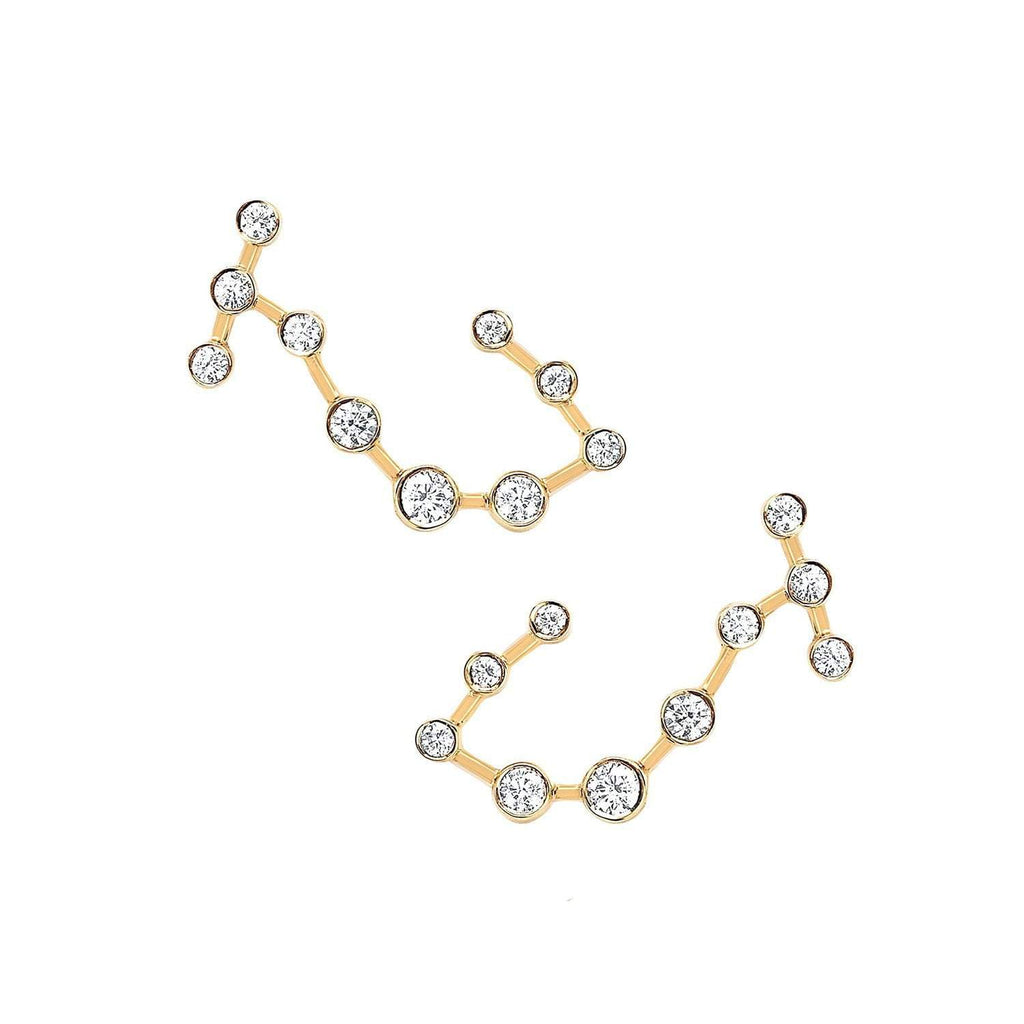 Scorpio Diamond Constellation Studs Scorpio Diamond Constellation Studs